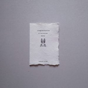 japanese paper custom greetings card